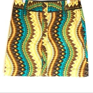 Etcetera All Cotton Skirt Mod Retro Colorful 10